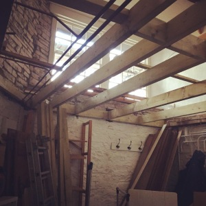 Skirrid Print Studio A photo of building work at studio