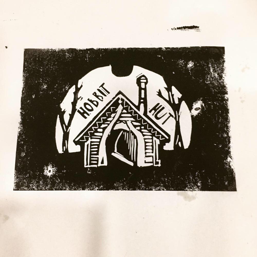 Skirrid Print Studio hobbit hut
